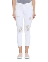 Vigoss Chelsea Distressed Cropped Jeans White
