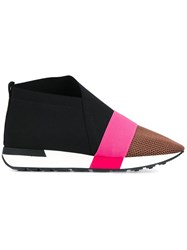 Balenciaga Race Runner Wedge Heel Sneakers Black
