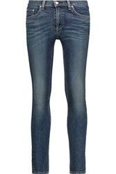 Rag And Bone The Capri Cropped Mid Rise Skinny Jeans Mid Denim