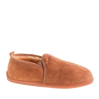 J.Crew Men's Minnetonka Moccasin Shearling Slippers Golden Tan