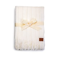 Ugg Fine Cable Knit Throw Cream
