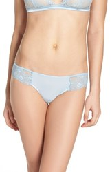 La Perla Women's Airy Blooms Panty Light Blue