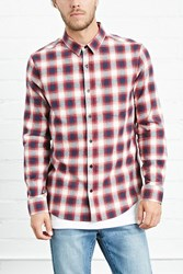 Forever 21 Fitted Plaid Flannel Shirt