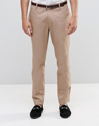 Asos Skinny Smart Chino Trousers In Stone Stone