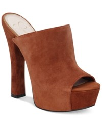 Jessica Simpson Finnie Platform Mules Women's Shoes New Luggage