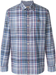 Napapijri Checked Shirt Blue