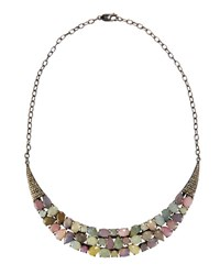 Bavna Multicolored Sapphire And Diamond Collar Necklace