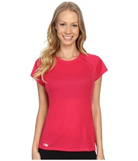 Outdoor Research Echo S S Tee Desert Sunrise Paradise Women's Clothing Red
