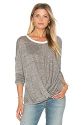 Maven West Surplice Drop Shoulder Top Gray