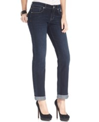 Styleandco. Style And Co. Petite Curvy Fit Cuffed Ex Boyfriend Jeans Caneel Wash