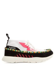 Valentino Heroes Tribe High Top Trainers White Multi
