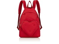 Anya Hindmarch Chubby Heart Backpack Red