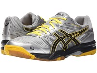 Asics Gel Rocket 7 Silver Onyx Neon Yellow Men's Volleyball Shoes