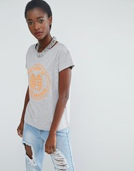 Love Moschino Peace And T Shirt Grey