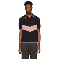 Golden Goose Navy And Pink Harry Polo