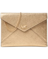 Michael Kors Barbara Small Soft Envelope Clutch Pale Gold