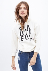 Forever 21 Beautiful Graphic Drawstring Hoodie
