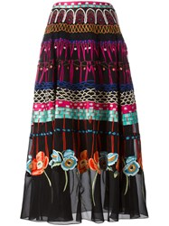 Temperley London Printed Pleated Skirt