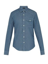 Belstaff Steadway Chambray Shirt Blue
