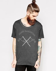 Dr. Denim Dr T Shirt Russ Damn Handsome Print Black