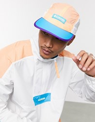 Columbia Shredder Cap In Coral And Blue