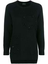 Simone Rocha Patchwork Knit Jumper Black