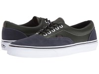 Vans Era Suede And Leather Parisian Night Rosin Skate Shoes Olive