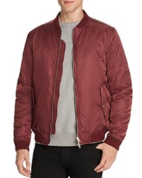 Wesc Rush Nylon Bomber Jacket Plum