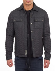 William Rast Quilted Cargo Jacket Grey