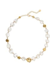 Chan Luu Gold Plated Pearl Necklace One Size