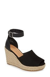 Coconuts By Matisse Flamingo Wedge Sandal Black Suede
