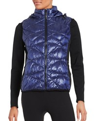 Marc New York Quilted Packable Down Vest Purple