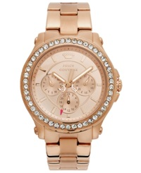 Juicy Couture Watch Women's Pedigree Rose Gold Tone Stainless Steel Bracelet 38Mm 1901050