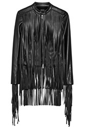 Dkny Fringed Faux Leather Jacket