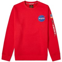 Alpha Industries Space Shuttle Sweater Red