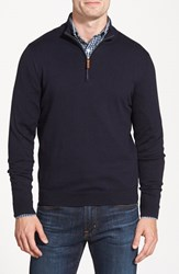 Nordstrom Men's Big And Tall Quarter Zip Sweater Navy Night