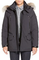 Men's Tumi 'Fully Loaded' Parka With Genuine Coyote Fur Trim