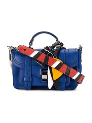 Proenza Schouler Patchwork Strap Ps 1 Satchel Women Leather One Size Blue