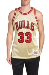 Mitchell And Ness Nba Gold Pippen Jersey