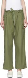 Chimala Green Drawstring Cargo Pants