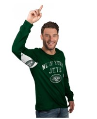 G3 Sports Hands High Men's Long Sleeve New York Jets Play Action T Shirt Green