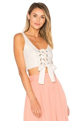 Mara Hoffman Lace Up Bustier Top White