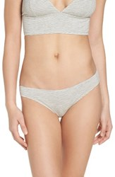 Madewell Women's Jersey Bikini Heather Pelican White Stripe