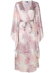 Gilda And Pearl Floral Embroidered Night Gown Nude And Neutrals