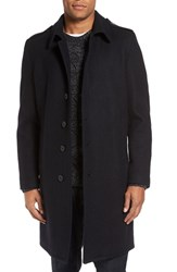 Schott Nyc Men's Wool Blend Officer Coat