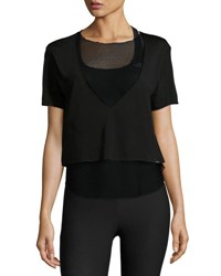 Koral Double Layer Mesh Tee Black