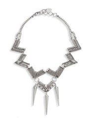 Erickson Beamon Awaken Crystal Statement Necklace Silver