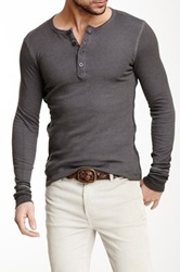 Rogue Long Sleeve Thermal Henley Gray