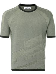 Stone Island Knitted T Shirt Green