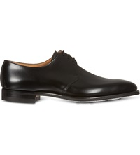 Crockett Jones Hibrey Three Eye Derby Shoes Black